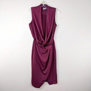 ASOS   Burgundy Drape Cutout Dress